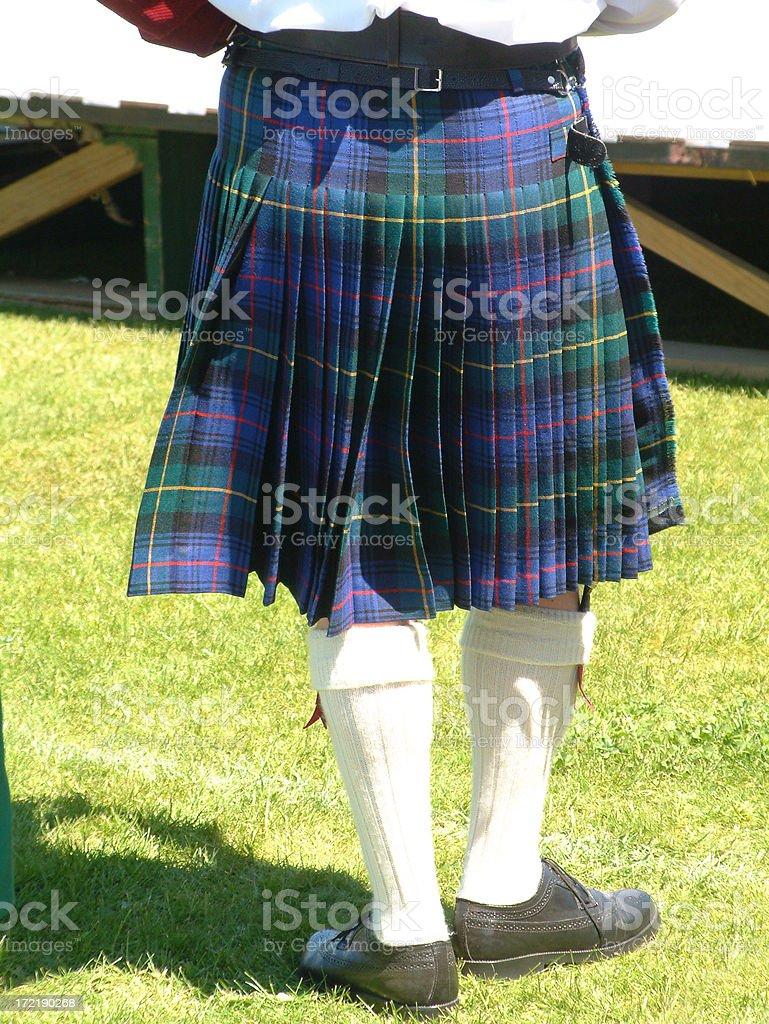 Kilted Man royalty-free stock photo