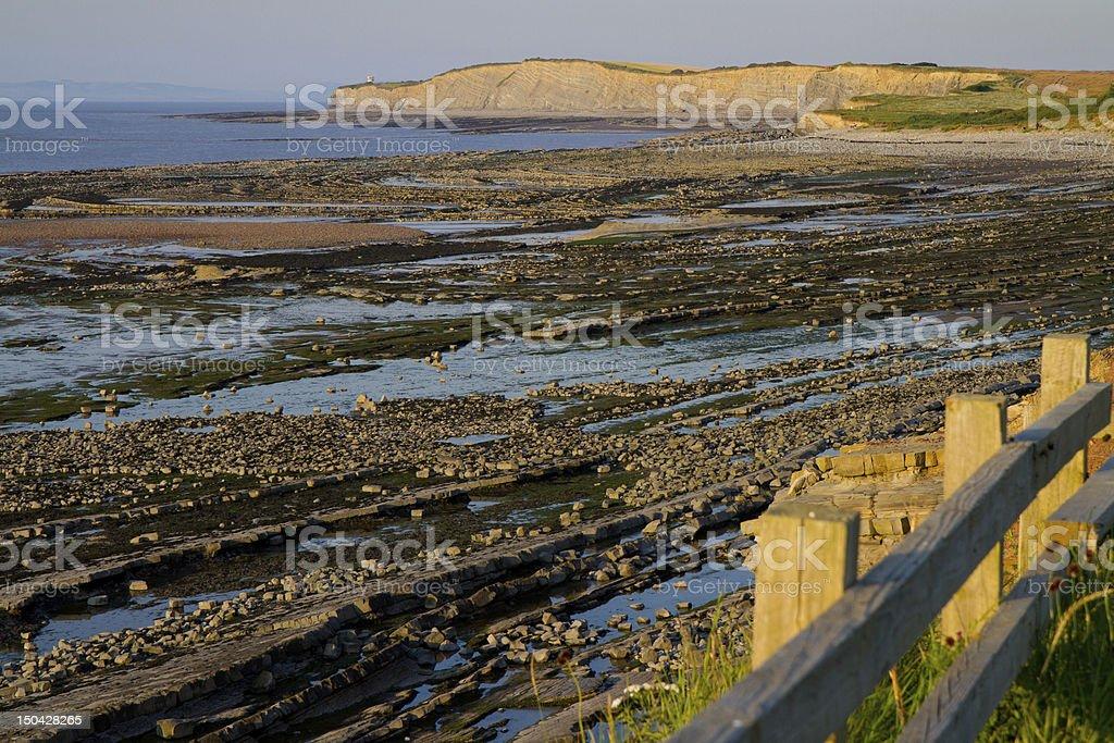 Kilve beach Somerset England stock photo
