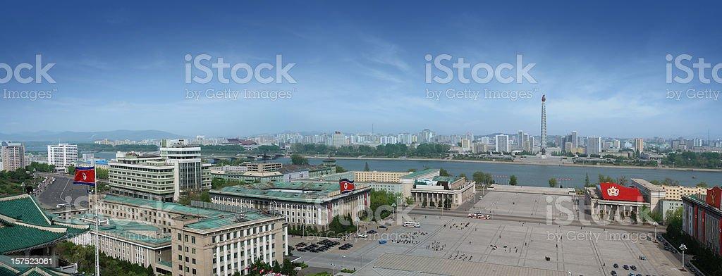 Kim Il Sung Square in Pyongyang stock photo