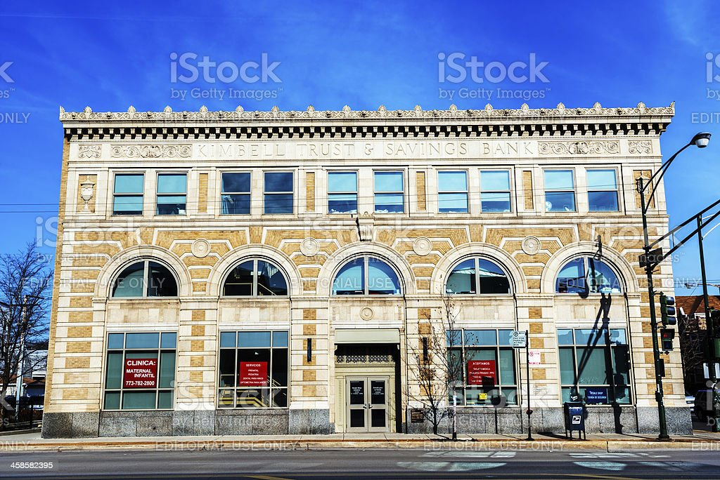 Kimbell Trust and Saving Bank, Chicago royalty-free stock photo