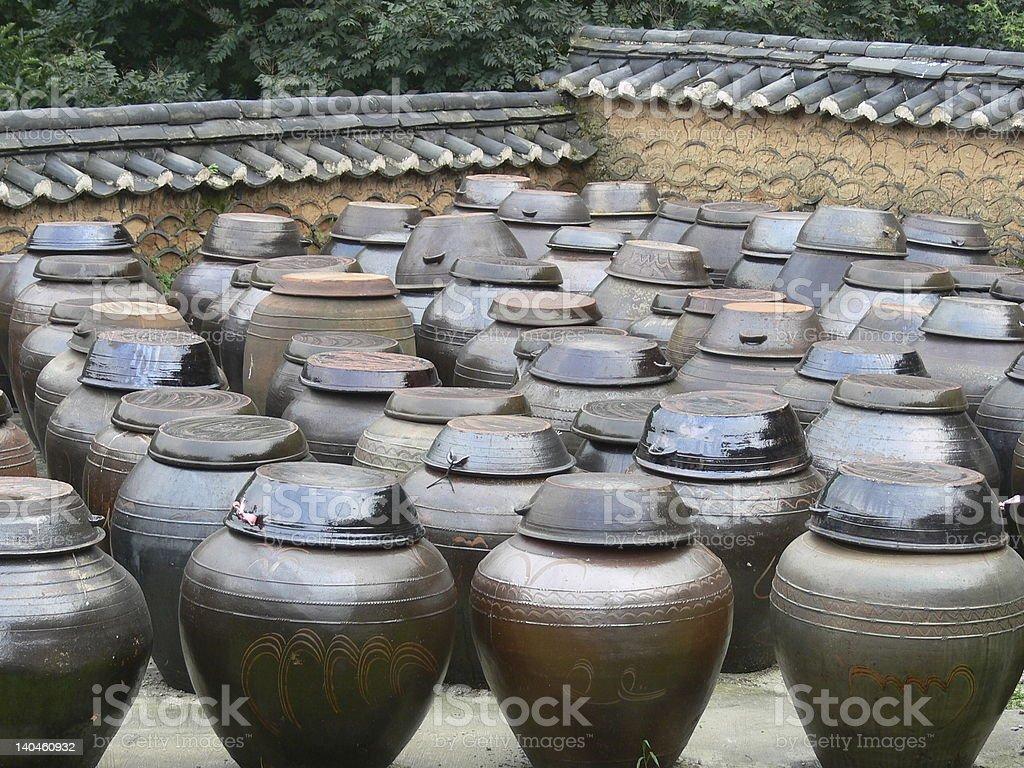 kimchee pots royalty-free stock photo