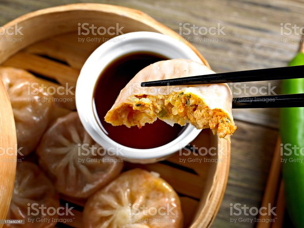 Kimchi Dumpling royalty-free stock photo