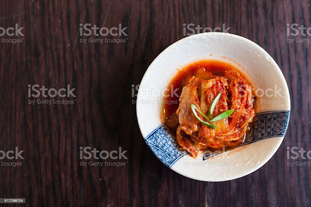Kimchi japanese food stock photo