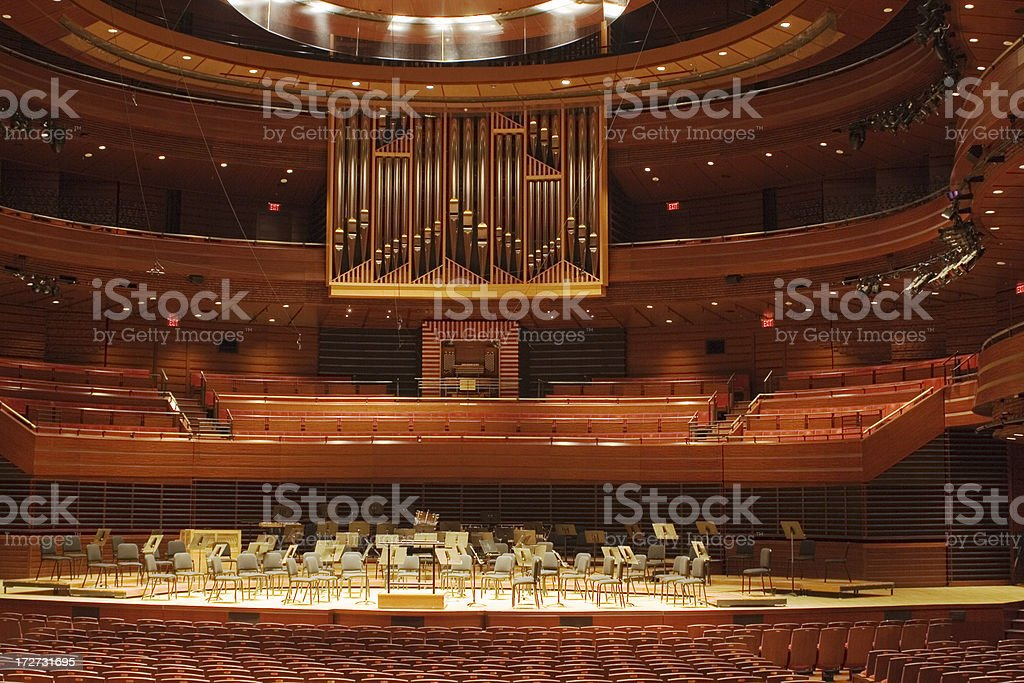 Kimmel Center for performing arts - pipe organ royalty-free stock photo