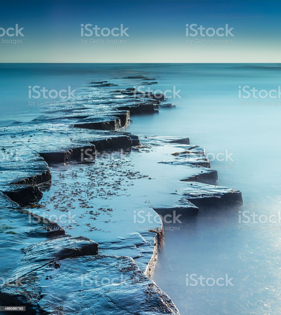 Kimmeridge Ledges stock photo