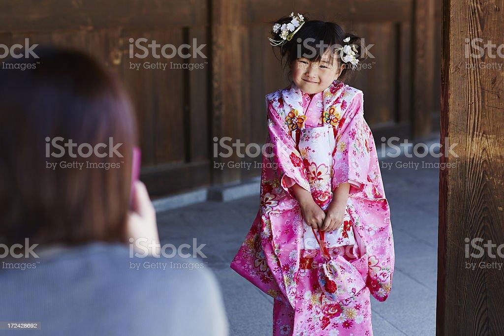 Kimono girl royalty-free stock photo