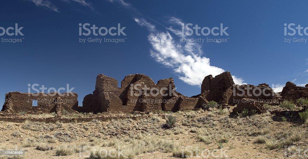 Kin Bineola ruins, Chaco Culture National Historic Park stock photo