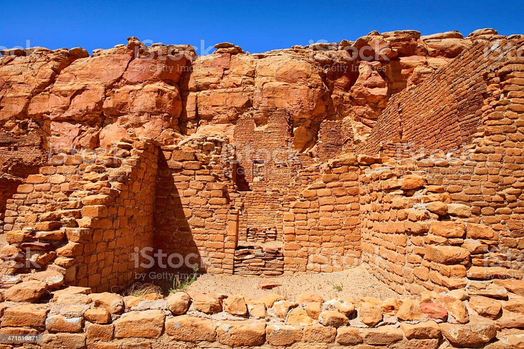 Kin Kletso Ruins - Chaco Culture National Historical Park stock photo