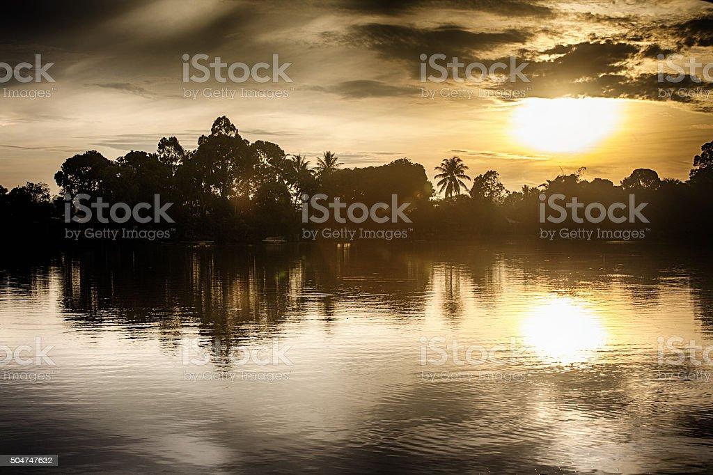 Kinabatangan River stock photo