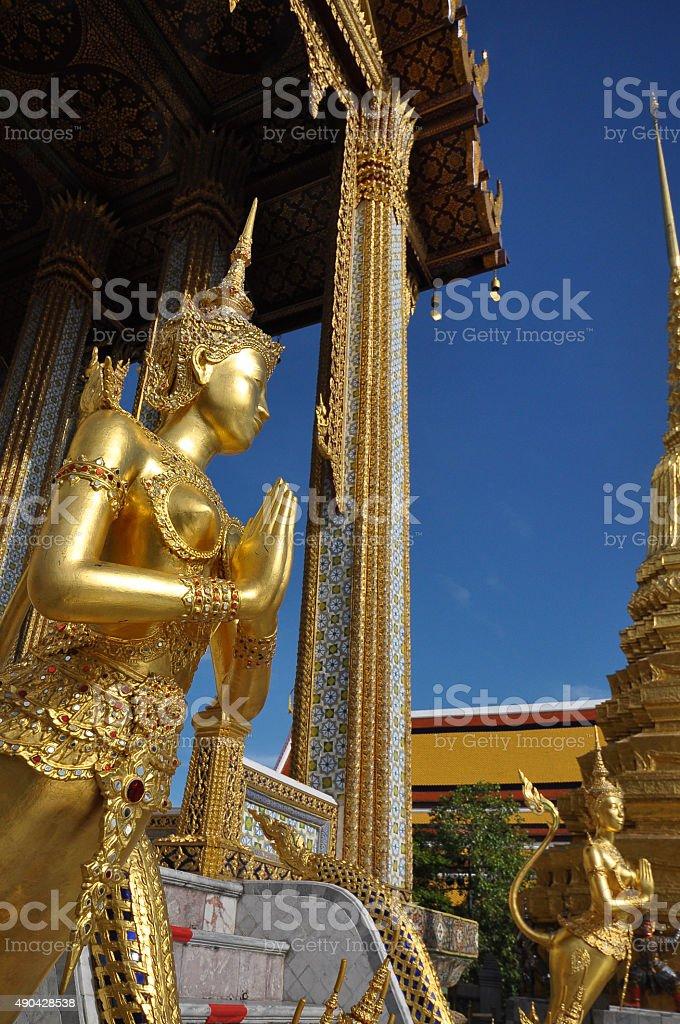 Kinare at Wat Phra Kaew in Grand Palace, Bangkok, Thailand stock photo