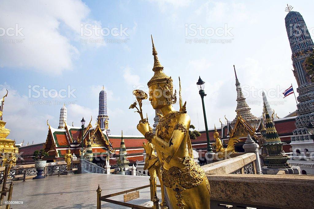 kinaree, mythology figure in the Grand Palace royalty-free stock photo
