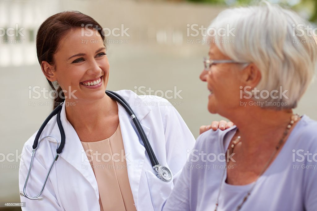 Kind and caring professional stock photo