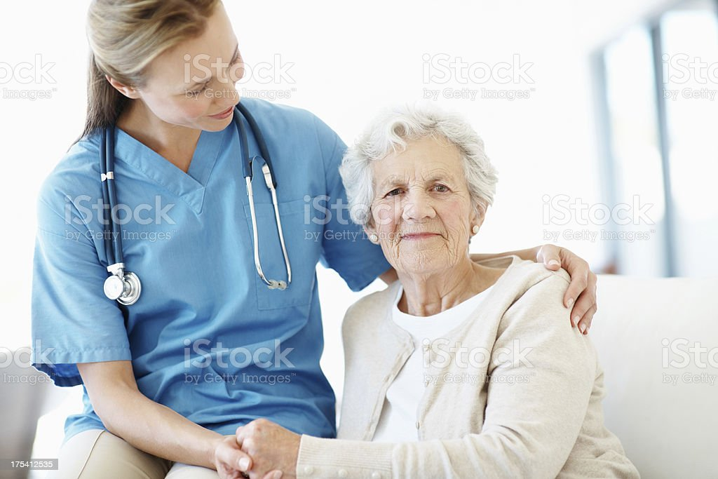 Kind, caring and friendly - Senior Care royalty-free stock photo