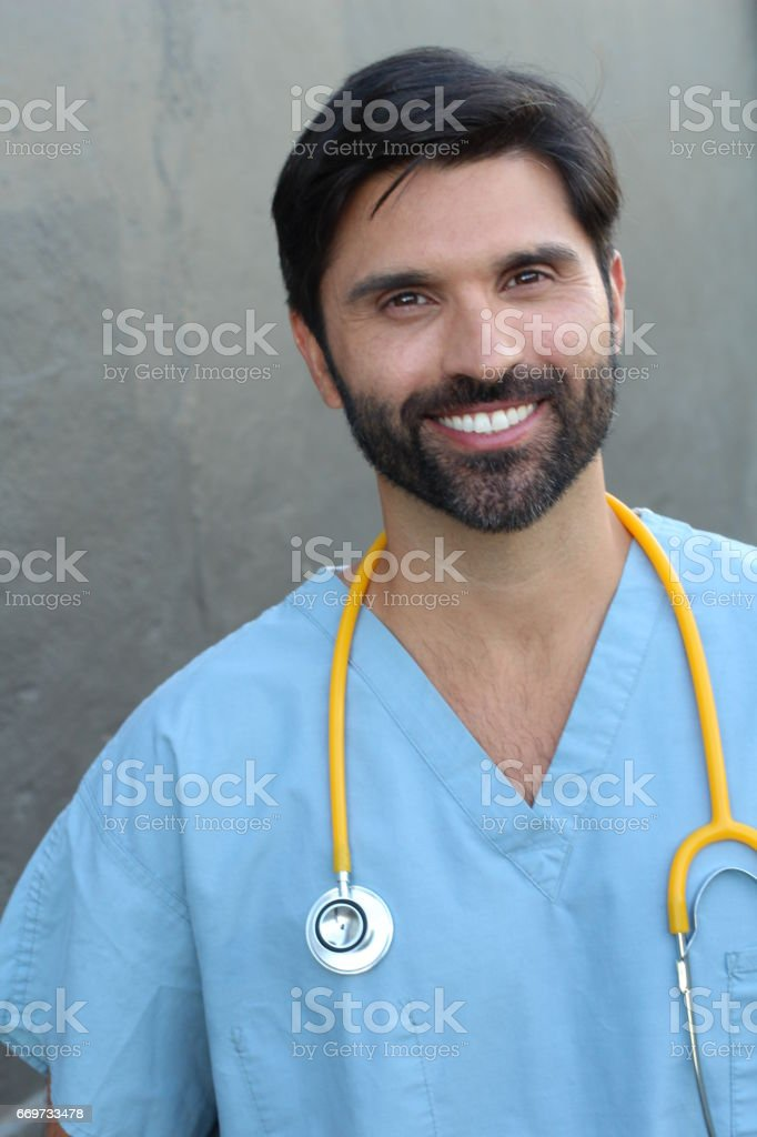 Kind health care worker close up stock photo