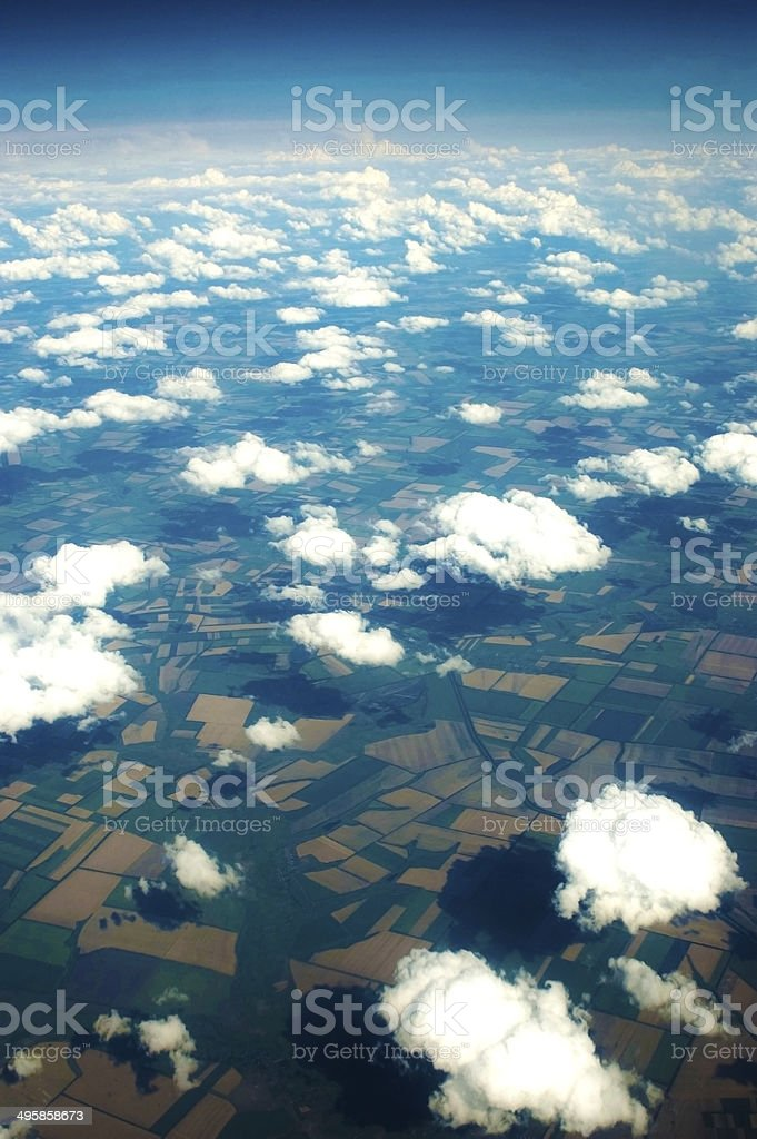 Kind of Mother earth from above stock photo