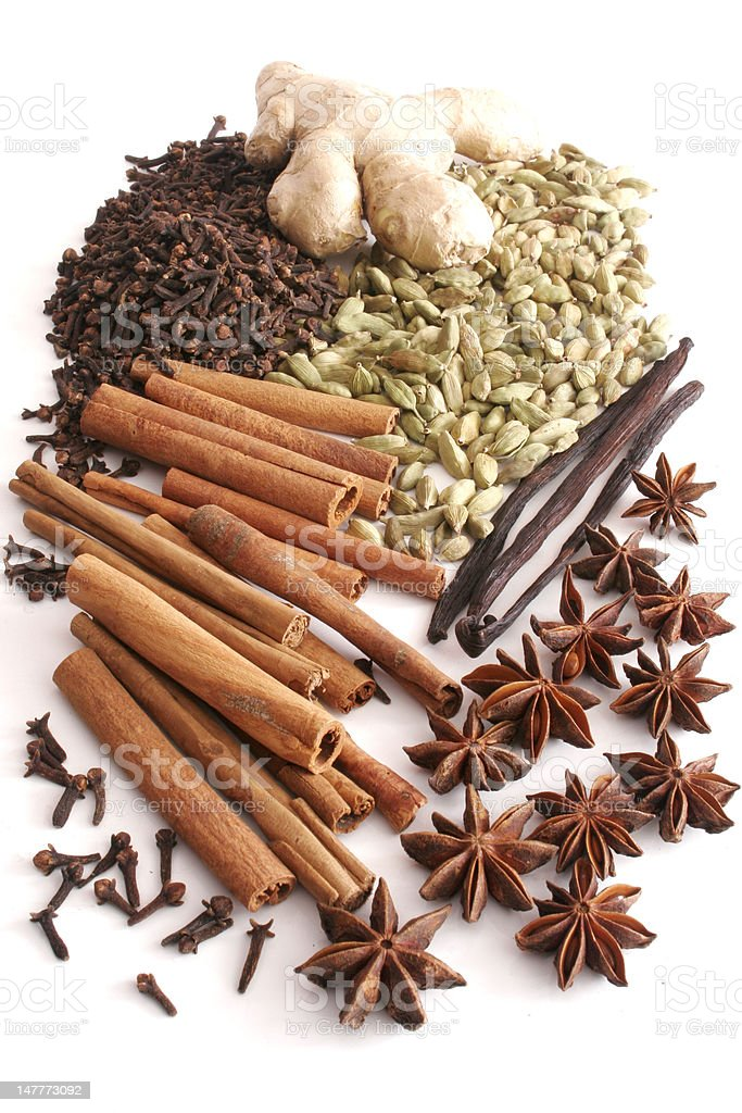 kind of spices royalty-free stock photo