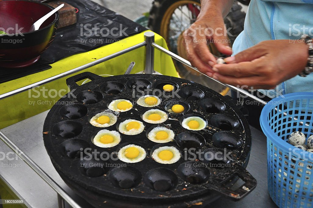 Kind of Thai foods eggs  fried dessert royalty-free stock photo
