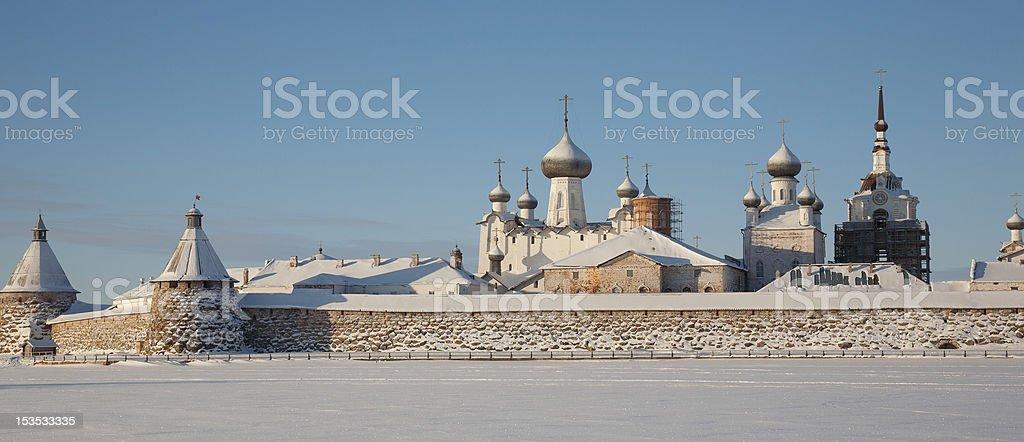 Kind on the Solovetsky monastery stock photo