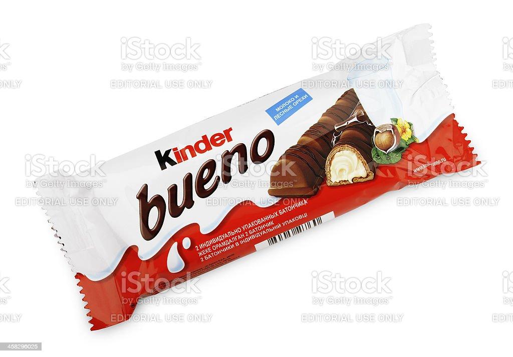 Kinder Bueno Chocolate Candy Bar stock photo