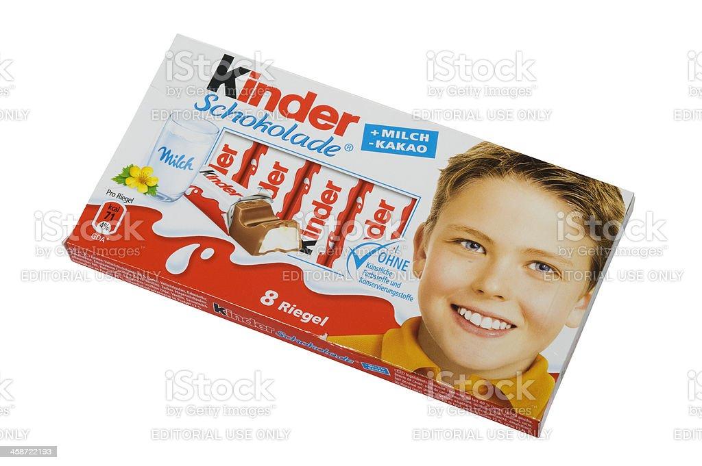 Kinder Schokolade stock photo