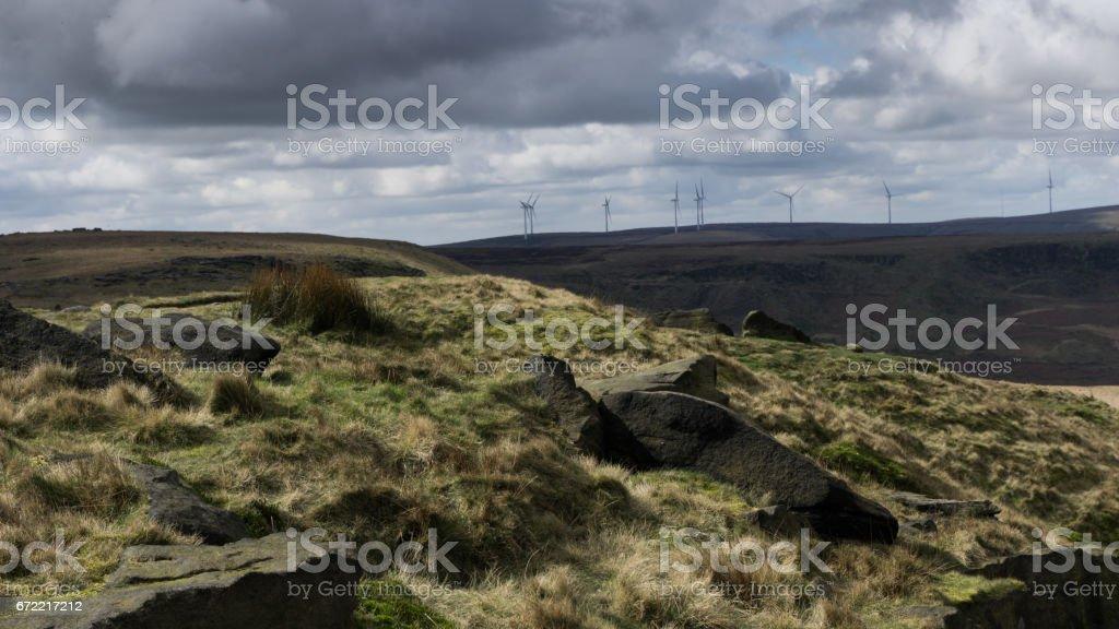 Kinder Scout, Derbyshire - 2017 stock photo