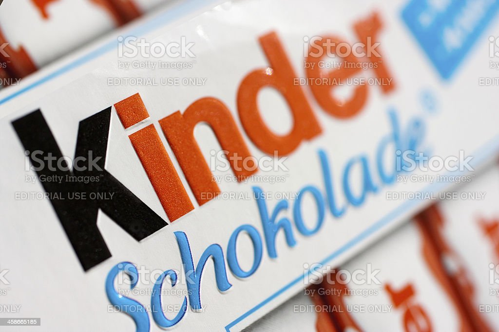 Kinder Shokolade stock photo