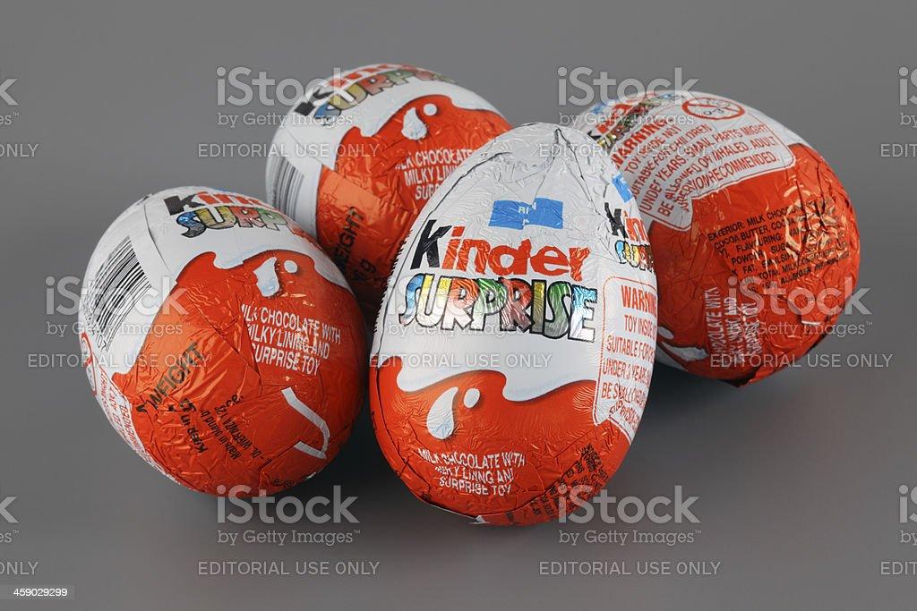 Kinder Surprise Eggs stock photo