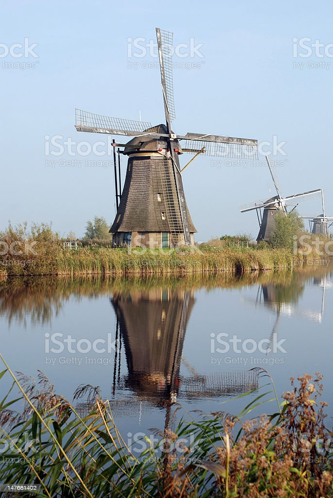 Kinderdijk royalty-free stock photo