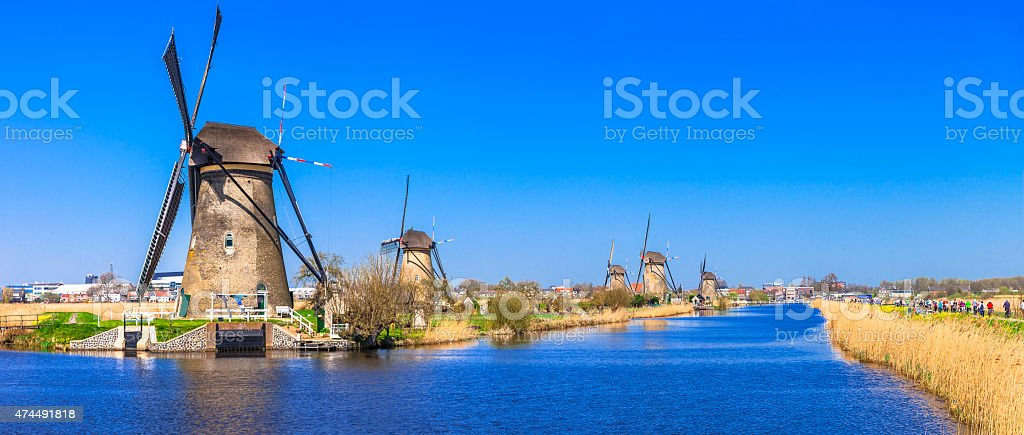 Kinderdijk,Holland. stock photo
