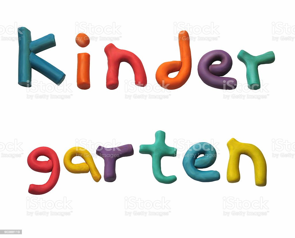 Kindergarten Color Clay Letters royalty-free stock photo