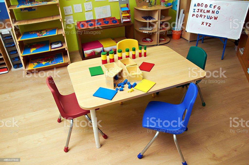 Kindergarten interior stock photo