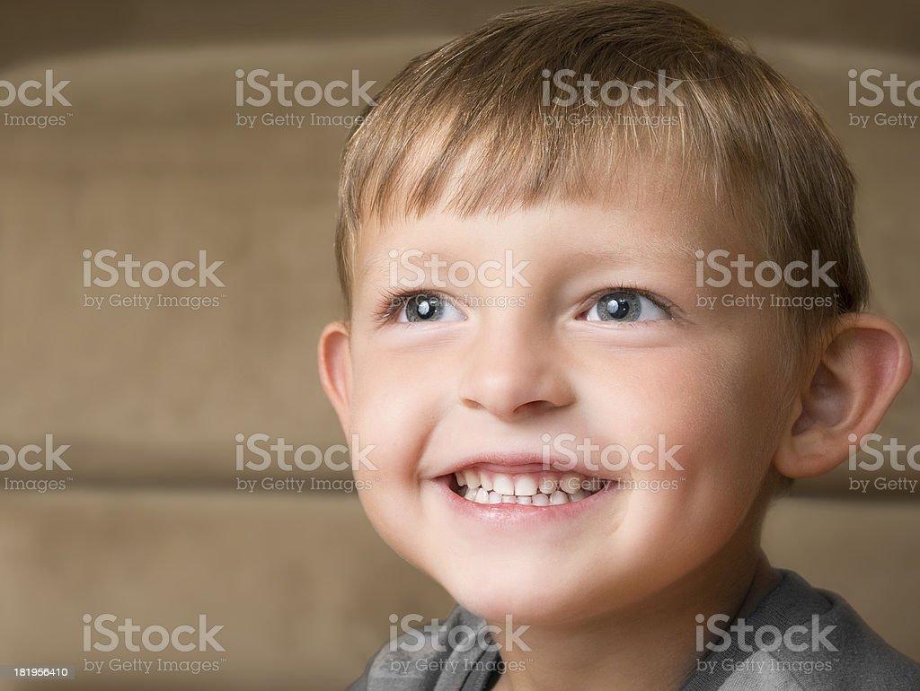 Kindergartener Smiles royalty-free stock photo