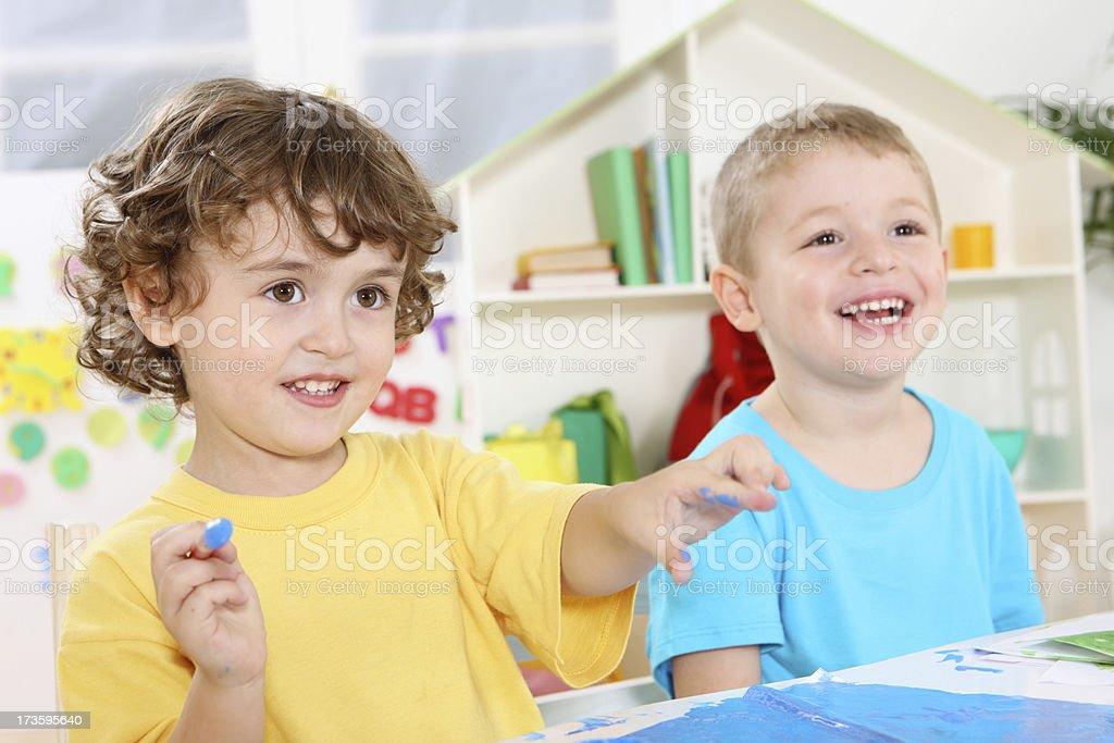 kindergarten's fun royalty-free stock photo