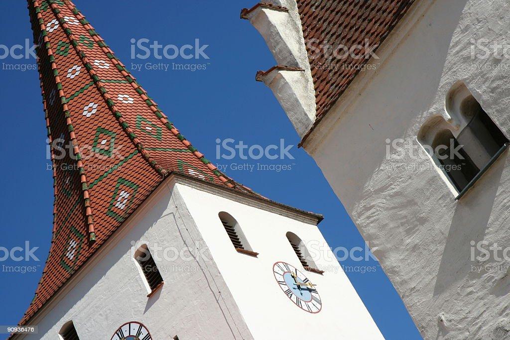 Kinding Kirchturm stock photo