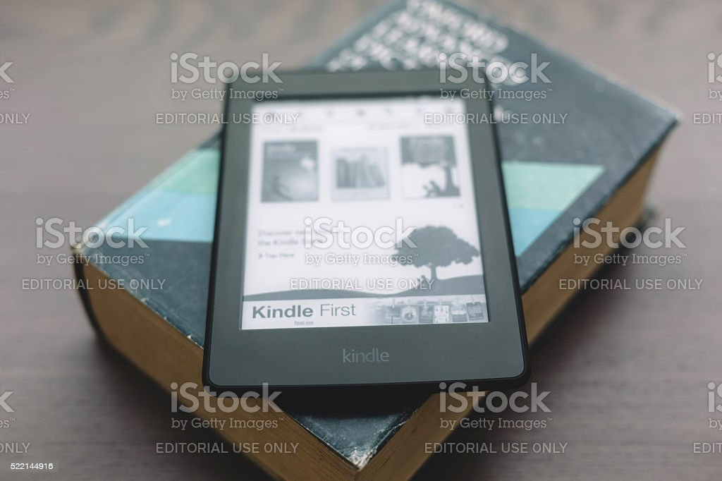 Kindle Paperwhite 7th Generation stock photo