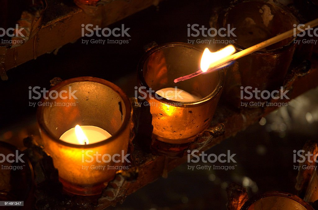 Kindle the Candles stock photo