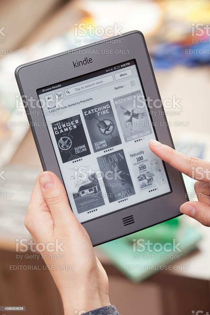 Kindle touch royalty-free stock photo