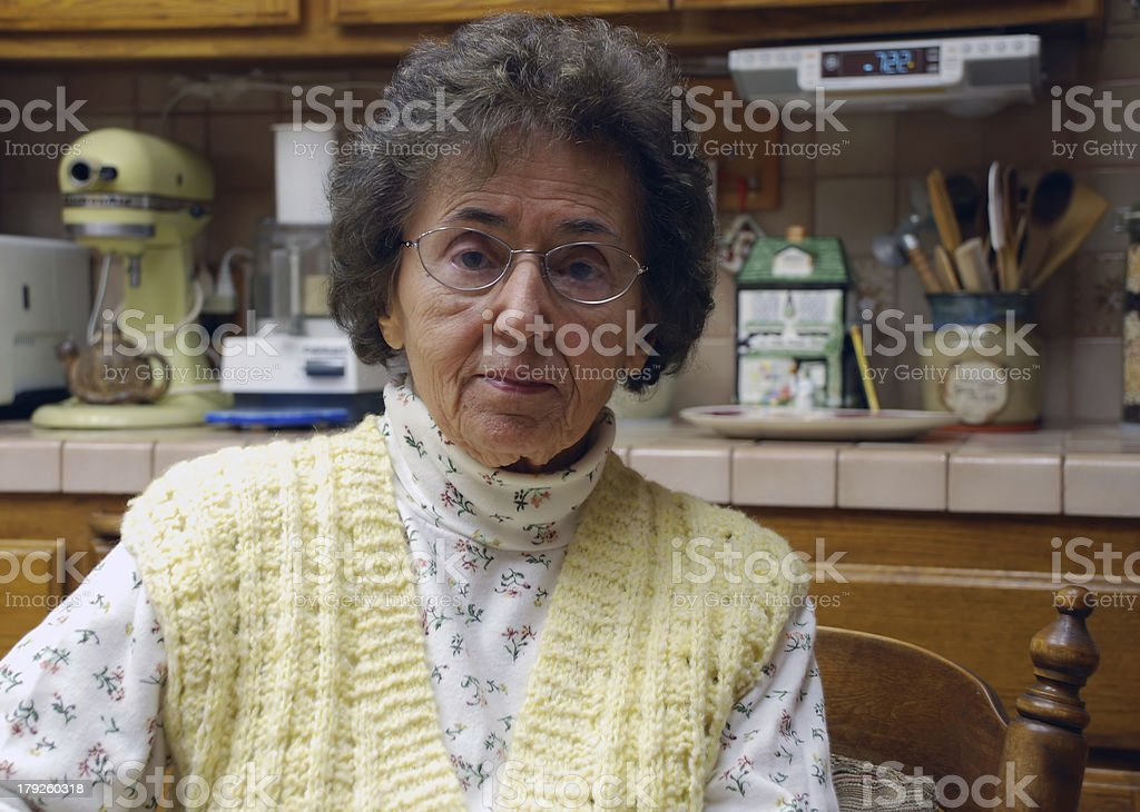 Kindly Grandmother in Kitchen royalty-free stock photo