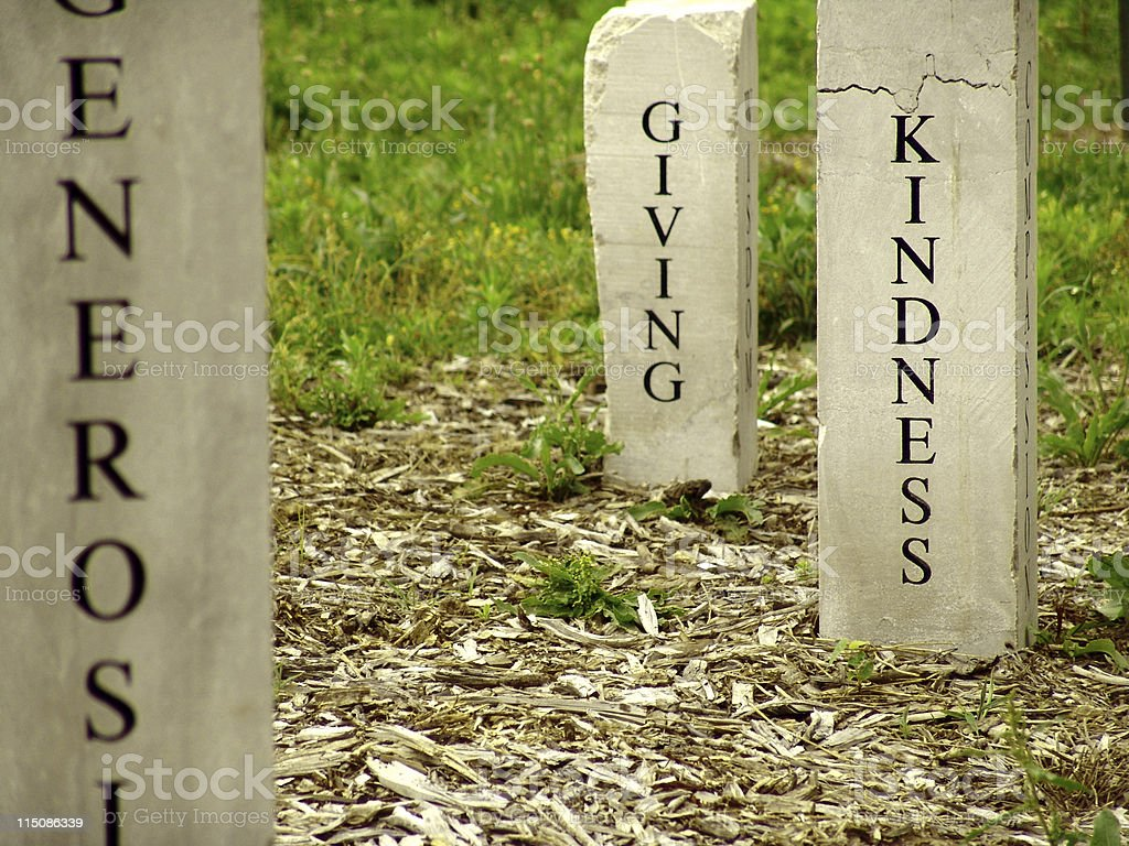 kindness giving monument royalty-free stock photo