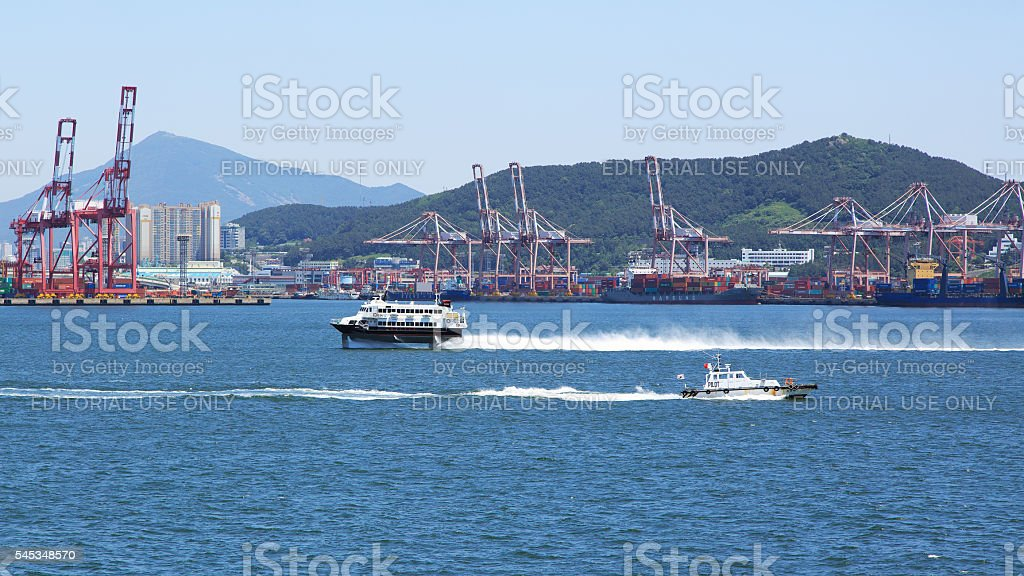 Kinds in port Busan. stock photo