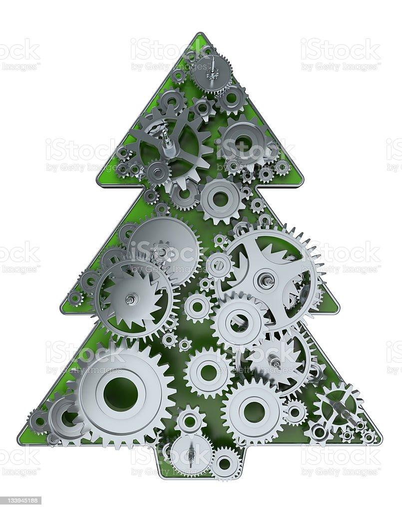 kinematic gears Christmas Tree royalty-free stock photo