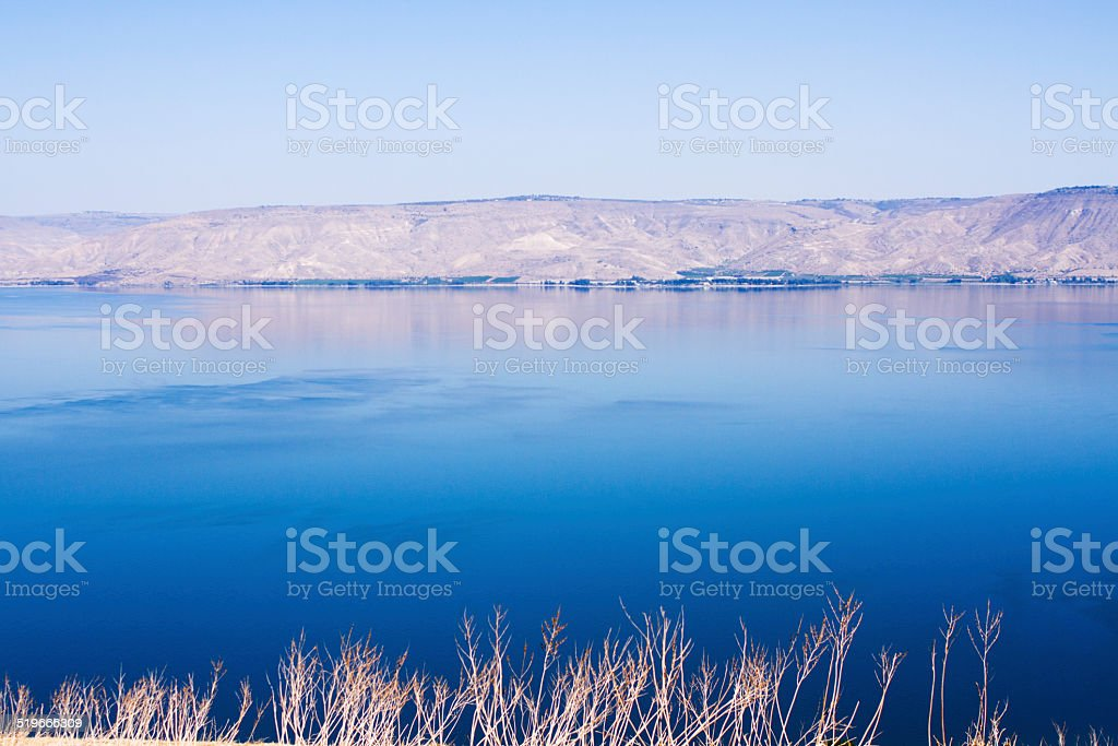 Kineret lake, Israel . stock photo