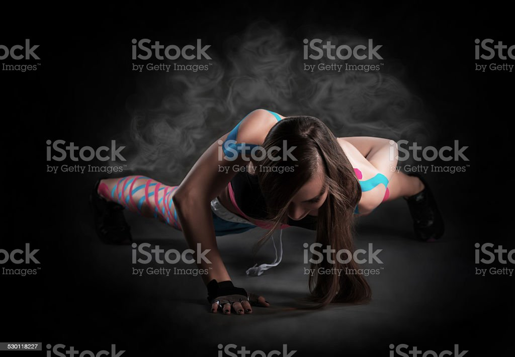 Kinesio Tape, overheating stock photo