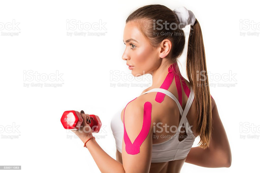 Kinesio Taping stock photo