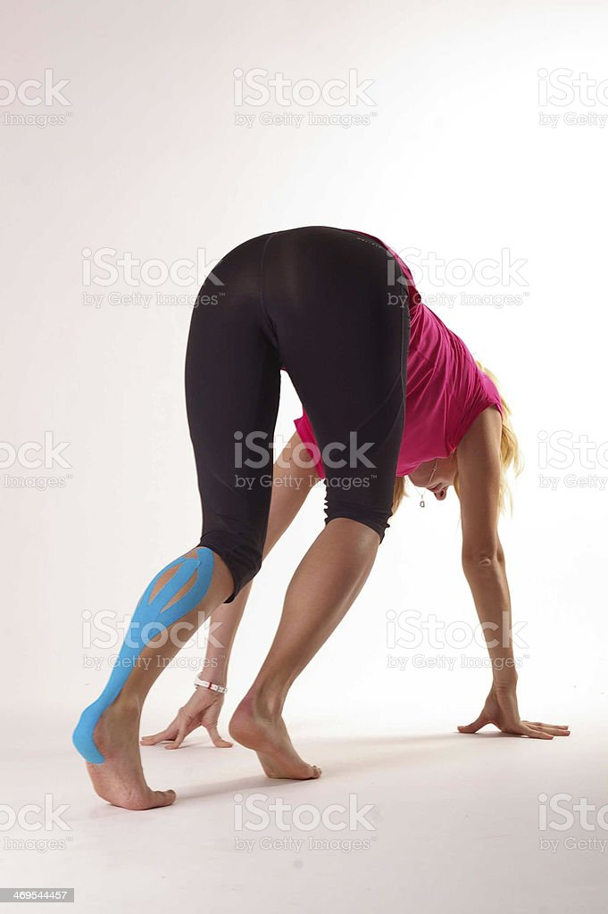 Kinesiology tape stock photo