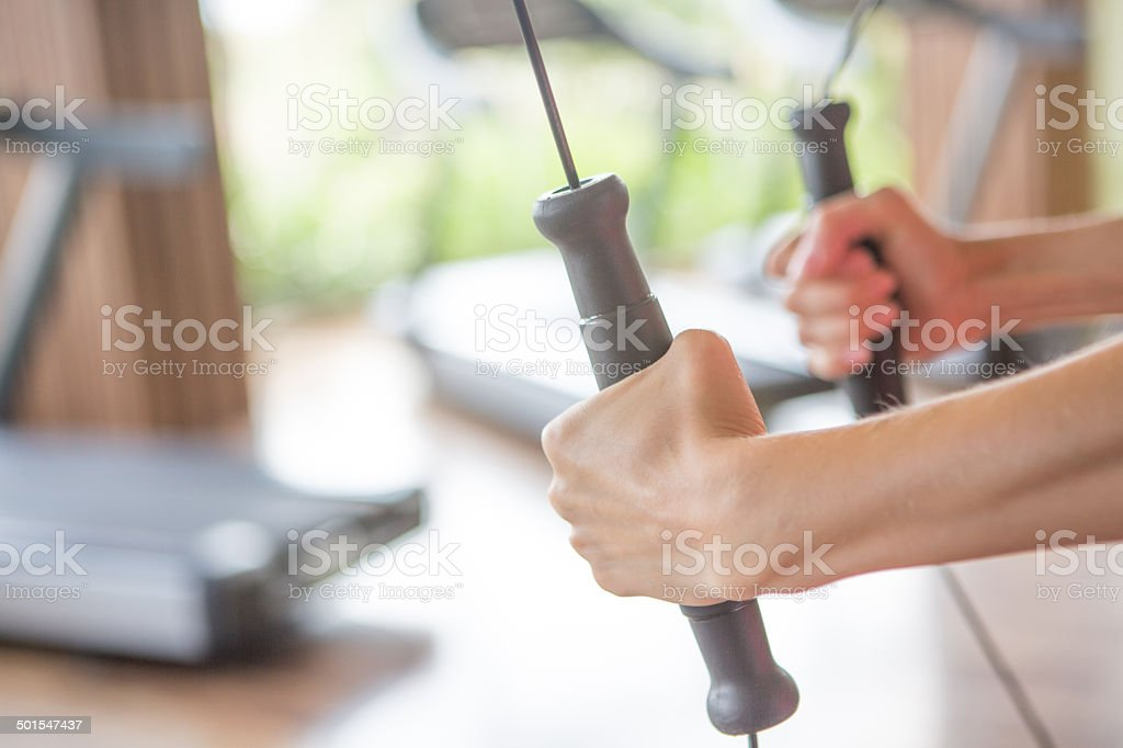 Kinesis work out stock photo