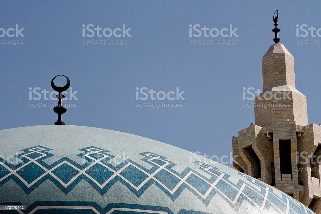 King Abdullah Mosque detail royalty-free stock photo