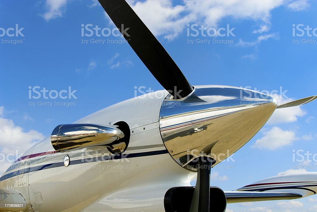 King Air Propeller royalty-free stock photo