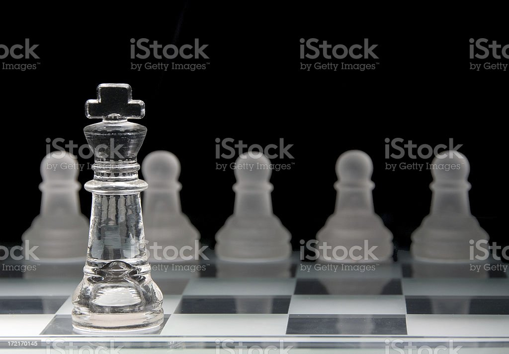 King Among Men Chess Pieces royalty-free stock photo