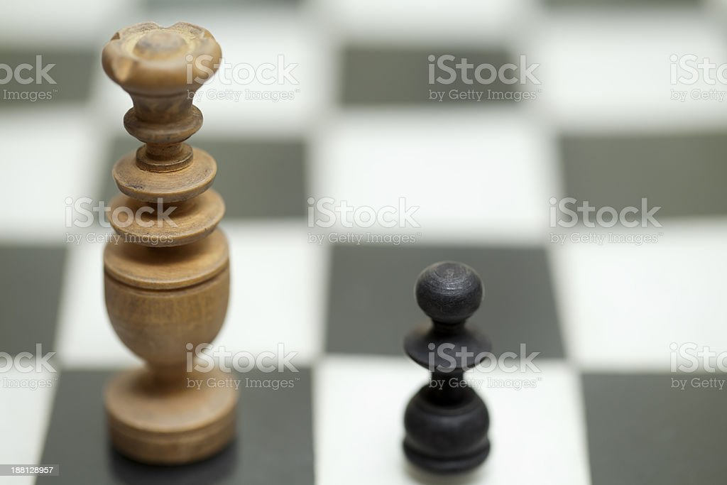 king and pawn royalty-free stock photo